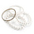 Crystal&Imitation Pearl Bangles-Set of 4 (Silver&Snow White) - view 2