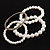Crystal&Imitation Pearl Bangles-Set of 4 (Silver&Snow White) - view 3