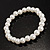 Crystal&Imitation Pearl Bangles-Set of 4 (Silver&Snow White) - view 4