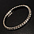 Crystal&Imitation Pearl Bangles-Set of 4 (Silver&Snow White) - view 6