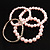 Crystal&Imitation Pearl Bangles-Set of 4 (Silver&Pale Pink) - view 3