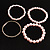 Crystal&Imitation Pearl Bangles-Set of 4 (Silver&Pale Pink) - view 5