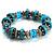 Stunning Turquoise Bead Flex Bracelet - view 3