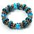 Stunning Turquoise Bead Flex Bracelet - view 6