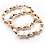 2-Strand Intertwine Freshwater Pearl Flex Bracelet Set (White) - view 6