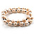 2-Strand Intertwine Freshwater Pearl Flex Bracelet Set (White) - view 5