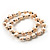 2-Strand Intertwine Freshwater Pearl Flex Bracelet Set (White) - view 9