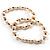 2-Strand Intertwine Freshwater Pearl Flex Bracelet Set (White) - view 2