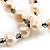 2-Strand Intertwine Freshwater Pearl Flex Bracelet Set (White) - view 7