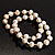 2-Strand Intertwine Freshwater Pearl Flex Bracelet Set (White) - view 4