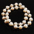 2-Strand Intertwine Freshwater Pearl Flex Bracelet Set (White) - view 1