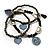 3-Strand Vintage Black Glass Charm Flex Bracelet - view 5