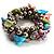 Multi-Coloured Sea Shell Flex Bracelet