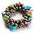 Multi-Coloured Sea Shell Flex Bracelet - view 3