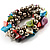 Multi-Coloured Sea Shell Flex Bracelet - view 5