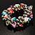 Multi-Coloured Sea Shell Flex Bracelet - view 4