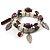 2-Strand Leaf Charm Ceramic And Resin Bead Flex Bracelet (Lavender&Milk) - view 5