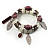 2-Strand Leaf Charm Ceramic And Resin Bead Flex Bracelet (Lavender&Milk) - view 6