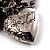 3-Strand Puffed Heart&Star Charm Flex Bead Bracelet (Black&Silver) - view 4