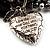 3-Strand Puffed Heart&Star Charm Flex Bead Bracelet (Black&Silver) - view 5