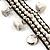 Antique White Semiprecious Stone Charm Wristband Bracelet (Silver Tone) - view 3
