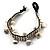 Antique White Semiprecious Stone Charm Wristband Bracelet (Silver Tone) - view 4
