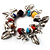 Multicoloured Semiprecious Stone Leaf&Butterfly Charm Flex Bracelet - view 6