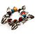 Multicoloured Semiprecious Stone Leaf&Butterfly Charm Flex Bracelet - view 5