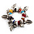 Multicoloured Semiprecious Stone Leaf&Butterfly Charm Flex Bracelet - view 7
