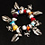 Multicoloured Semiprecious Stone Leaf&Butterfly Charm Flex Bracelet - view 2