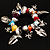Multicoloured Semiprecious Stone Leaf&Butterfly Charm Flex Bracelet - view 4