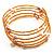 Glass Beaded Freshwater Pearl Charm Wrap Bangle Bracelet (6mm) - view 7