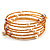 Glass Beaded Freshwater Pearl Charm Wrap Bangle Bracelet (6mm) - view 3