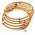 Glass Beaded Freshwater Pearl Charm Wrap Bangle Bracelet (6mm) - view 2