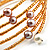 Glass Beaded Freshwater Pearl Charm Wrap Bangle Bracelet (6mm) - view 4