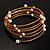 Glass Beaded Freshwater Pearl Charm Wrap Bangle Bracelet (6mm) - view 8