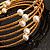 Glass Beaded Freshwater Pearl Charm Wrap Bangle Bracelet (6mm) - view 5