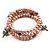 3 Strand Pale Purple Freshwater Pearl Charm Wrap Bangle Bracelet (6mm) - view 4