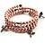 3 Strand Pale Purple Freshwater Pearl Charm Wrap Bangle Bracelet (6mm)