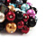 Chunky Multicoloured Simulated Glass Pearl & Shell Flex Bracelet - 17cm Length - view 4