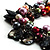 Multicoloured Simulated Pearl Bead & Shell Charm Bracelet (Silver Tone) - view 2