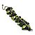 Olive Green Simulated Pearl Bead & Shell Charm Bracelet (Silver Tone) - view 4