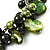 Olive Green Simulated Pearl Bead & Shell Charm Bracelet (Silver Tone) - view 5