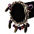 Silver Tone Link Bead Charm Flex Bracelet (Purple) - view 3