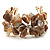 Antique White Floral Shell & Simulated Pearl Cuff Bracelet (Silver Tone) - view 4