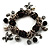 Black Vintage Charm Flex Bracelet (Burnished Silver Tone) - view 6