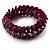 Violet Purple Shell Stretch Bracelet