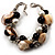 Faux Pearl & Shell - Composite Silver Tone Link Bracelet ( Antique White & Black) - view 6