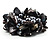 Chunky Black Shell And Bead Flex Bracelet - view 4