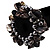 Chunky Black Shell And Bead Flex Bracelet - view 2